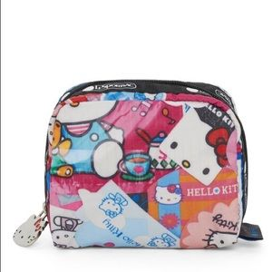 Sanrio hello kitty lesportsac square cosmetic bag